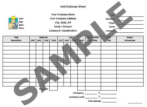 Construction contract sample canada for sale online store for Online construction cost estimator